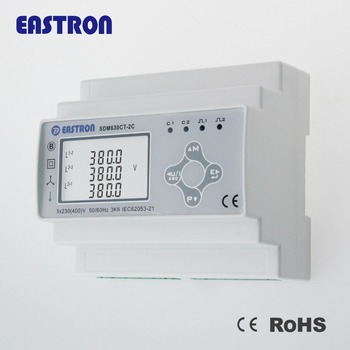 SDM630M CT 2C Dual Input Multifunction Power Meter CT 1/5A Operation, RS485