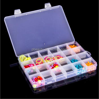 Compartments Clear Plastic Storage Box