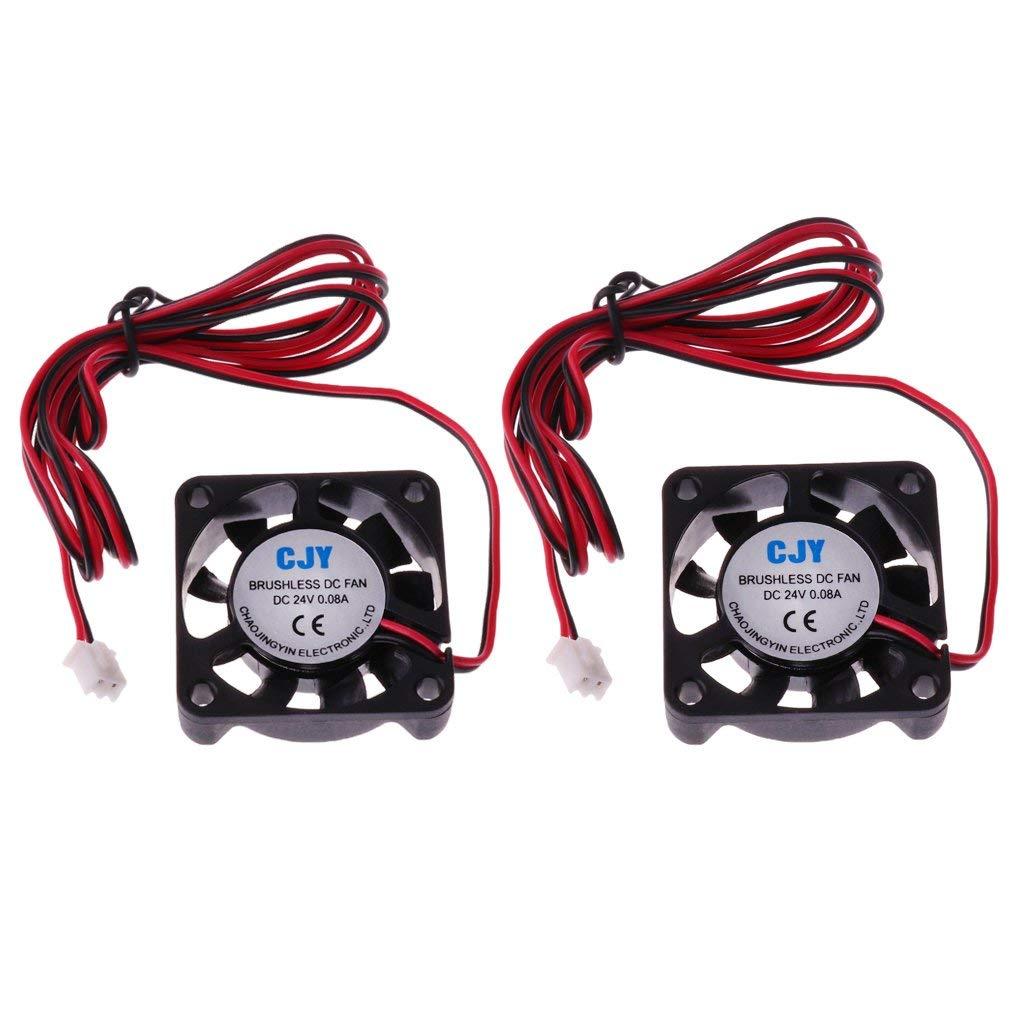 2 Pieces 24v 40mm fan Brushless Exhaust 3D Printer Blower Computer Gdstime C24