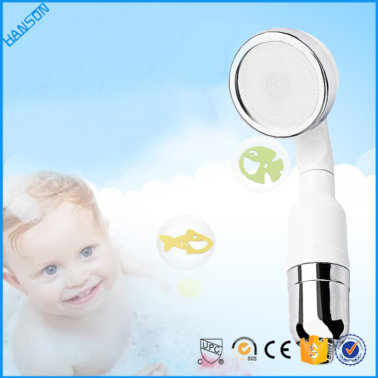 white handle plastic children kids fancy bathroom rain shower head