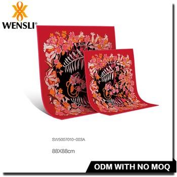 Indonesia Silk Fabric Fashion Line Silk Scarf,Shiny Silk Scarf,100 ...