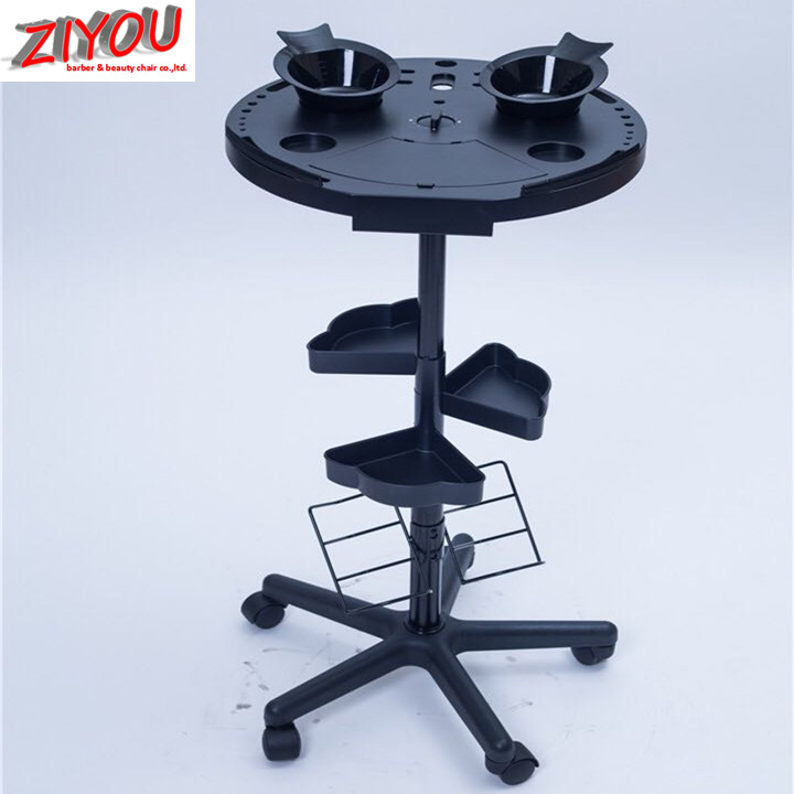 ABS material salon trolley hair trolley with strong wheels
