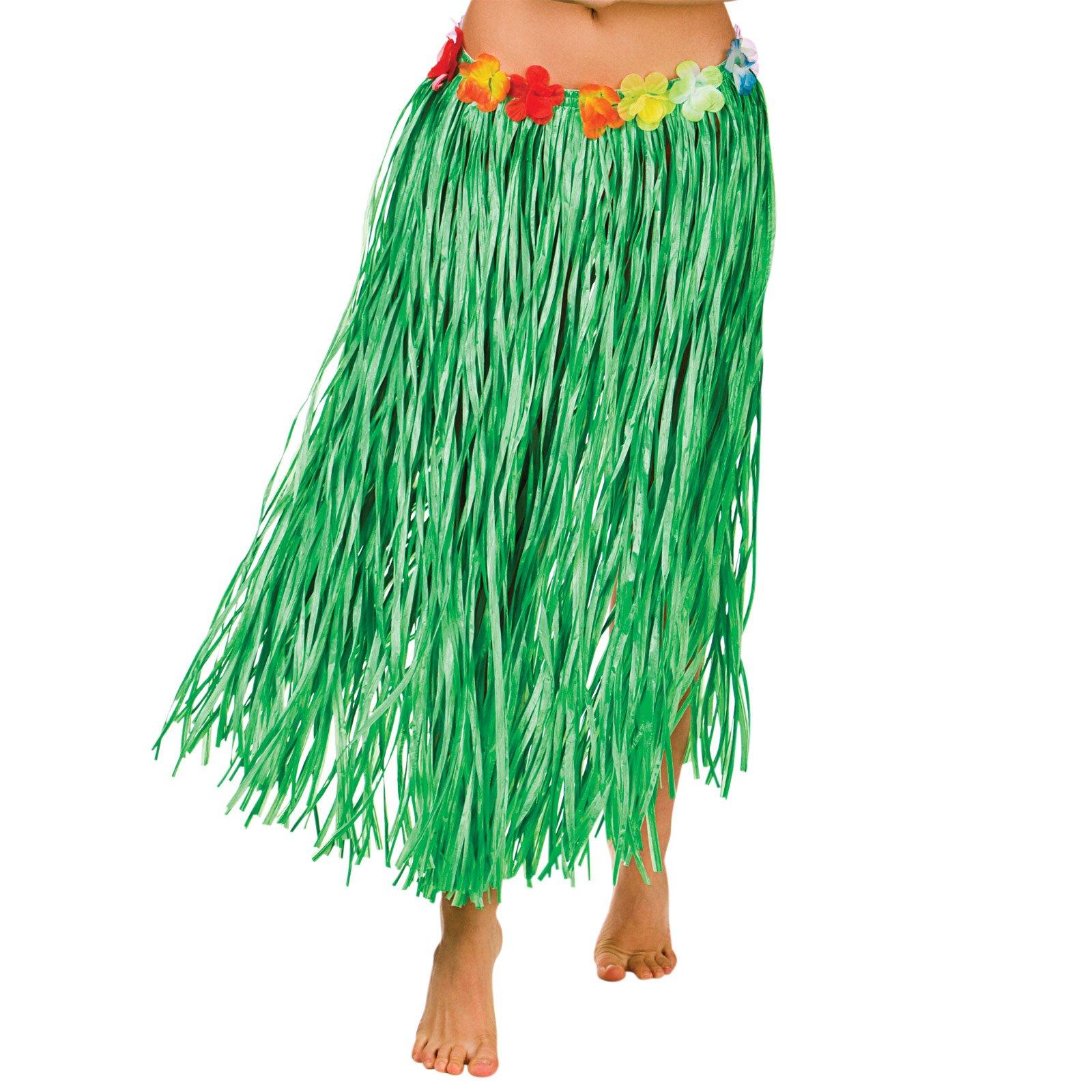 Plain Adults Grass Hawaain Skirt Fancy Dress Adult Hawaiian Budget