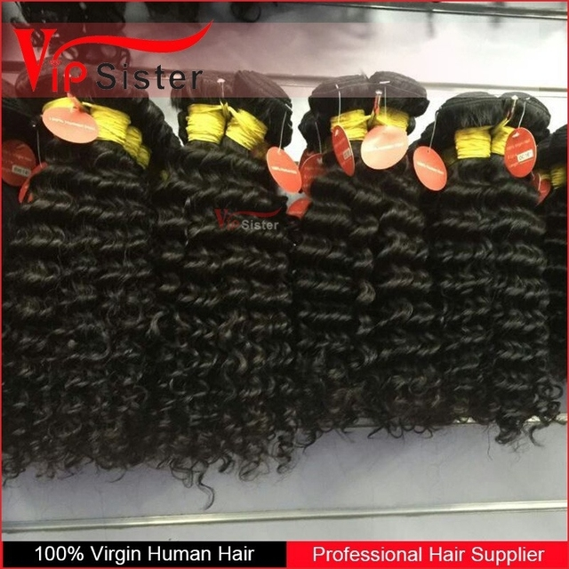 Natural Deep curly wholesale high quality good hair virgin brazilian and 100% raw unprocessed remy Virgin Peruvian hair