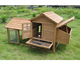 wooden roof chicken coop with run Rabbit Cage waterproof guinea pig house