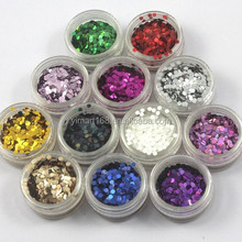 Yimart 12 Colors 2mm Round Paillette 3d Nail Art Glitter Circle Shapes Decoration