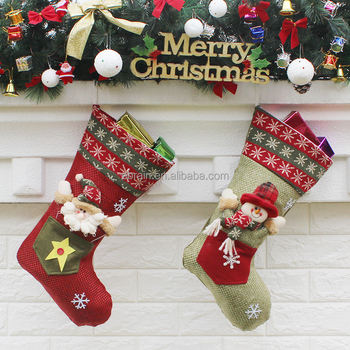buy cute wool christmas stockings promotional luxury christmas stockings wholesale low moq mix order