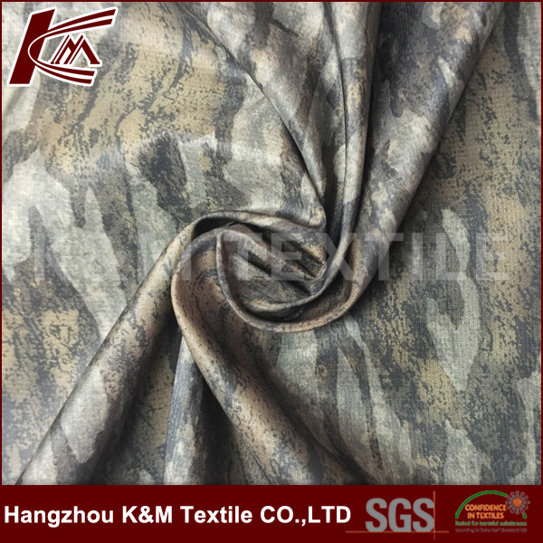 China supplier cire finish fabric with ripstop style for garments