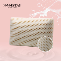 Pure natural fashion oblong latex comfort pillow