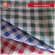 fancy yarn cotton check fabric for men dress shirts