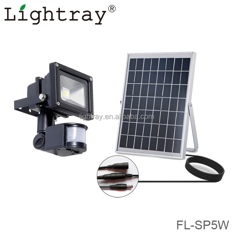Mini 5w solar flood ligt with motion sensor and timer ce rohs approval