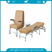 AG-AC005 Medical furniture foldable type foam sleep chair