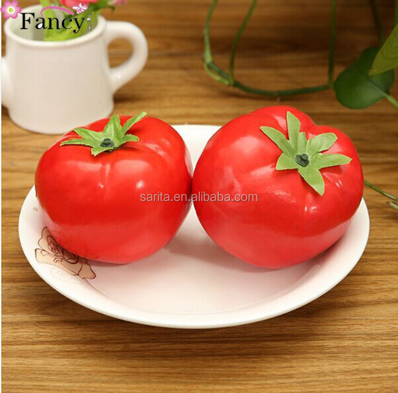 Wholesale plastic tomato artificial fruits and vegetables decorations