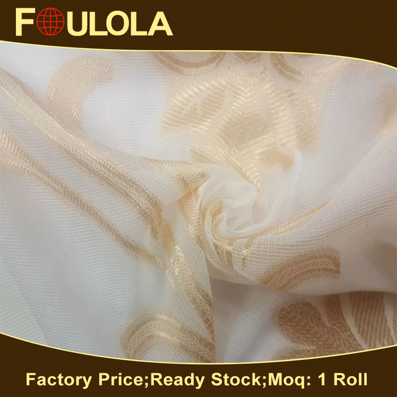 Classic Design Polyester Sell Well Modern Yarn Dyed Curtain Voile