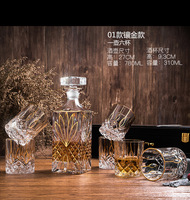 Hot Sell Variety 7PCS Crystal wine Decanter Whiskey Glass Decanter Set