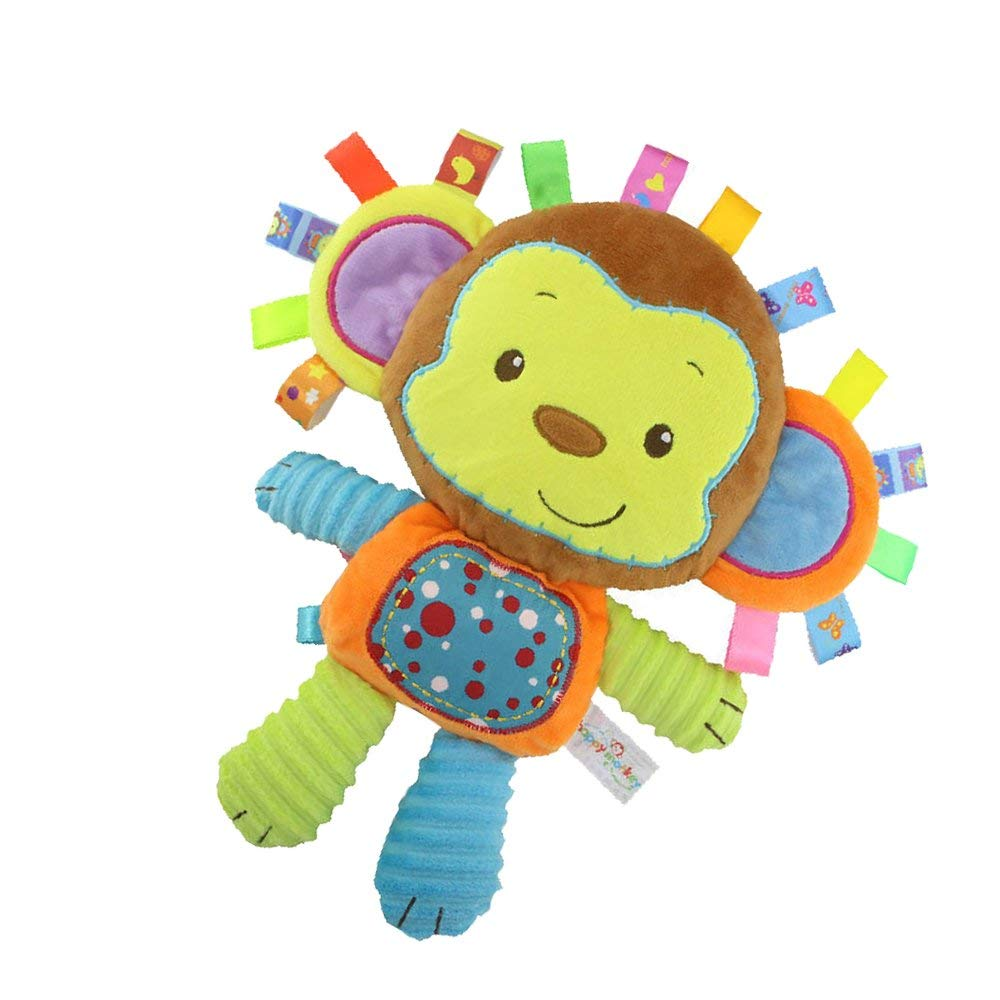 Inchant Monkey Taggie Activity Blanket And Sensory Toy Baby Gifts For Newborns Baby,Infant,Lovey Soft Toy - Clam Down And Play Your Baby, Baby taggy Toy