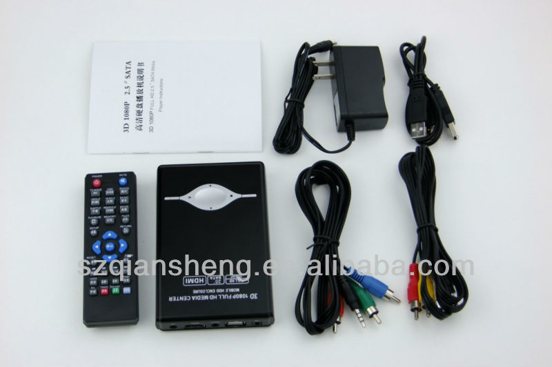 "1080P 2.5"" SATA HDD Media Player"