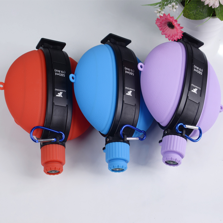 Most selling products 2019 squeeze foldable travel water bottle/mug/cups with handles