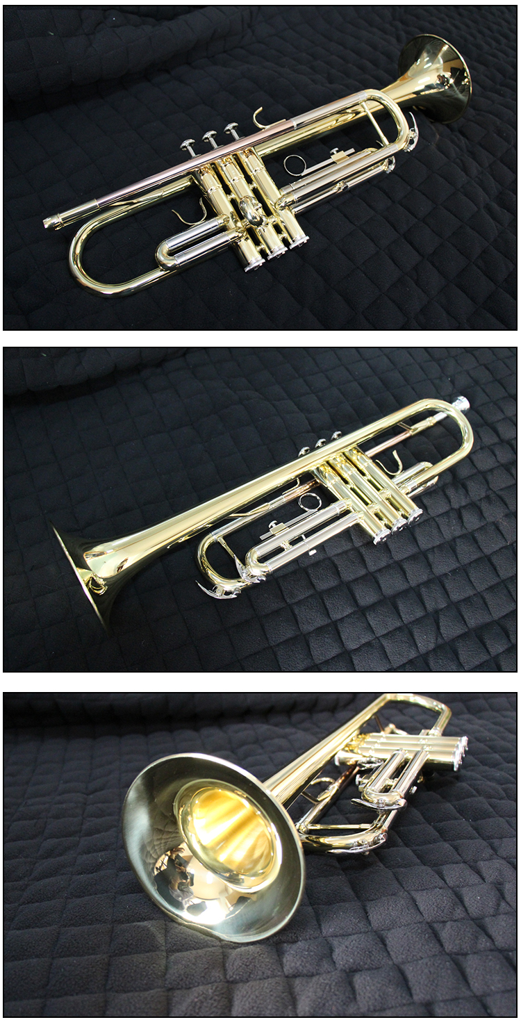 China Brass Bb Key Professional Tromba Trompete Trompeta Trumpet