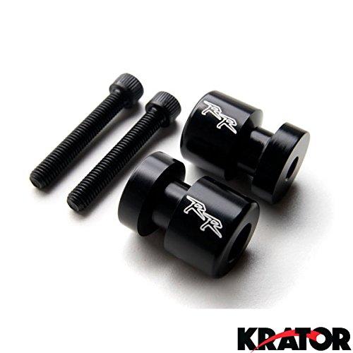 "Krator® Black Honda ""RR"" Engraved Swingarm Spools Sliders - CBR 600 250 900 954 1000 ""RR"" RC51 and More! (2000-2011)"