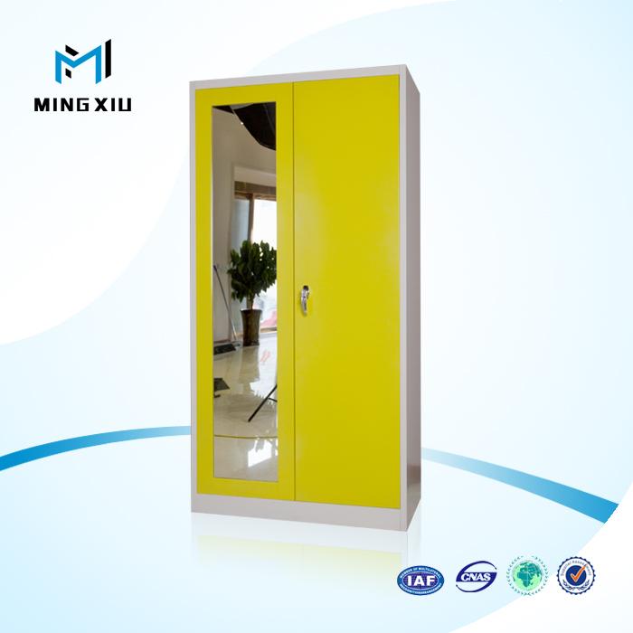 Venta al por mayor dos armario ropero puerta de metal-Compre online ...