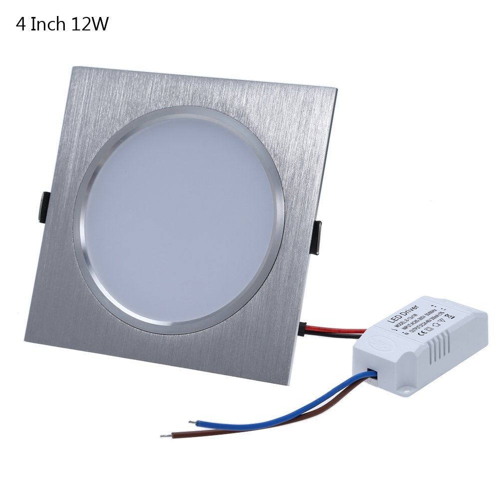 Square 4 Inch 12W LED Panel Light Ceiling Downlight