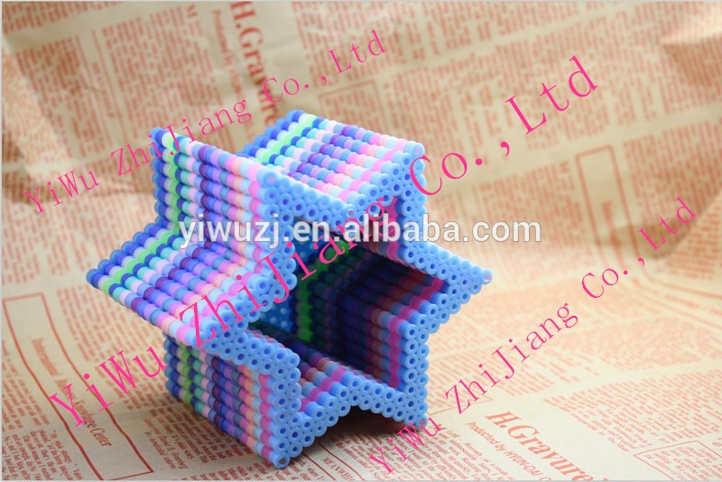 5000pcs 5mm fuse beads barrelled set for diy fashion educational toys eco-friend iron beads