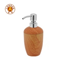 Cosmetic Packaging Plastic Shampoo Fiber Bottle Dispenser Airless Bamboo Body Lotion Bottle With Bamboo Lotion Pump