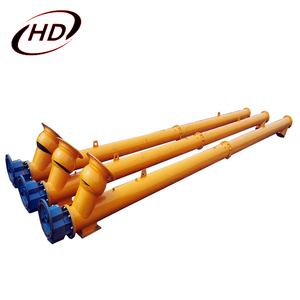 Stainless steel inclined shaft screw auger conveyor with hopper for flour