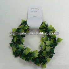 X'mas Present Packaging Decorations 9 Feet Green Holly Leaf Wired Tinsel Garland