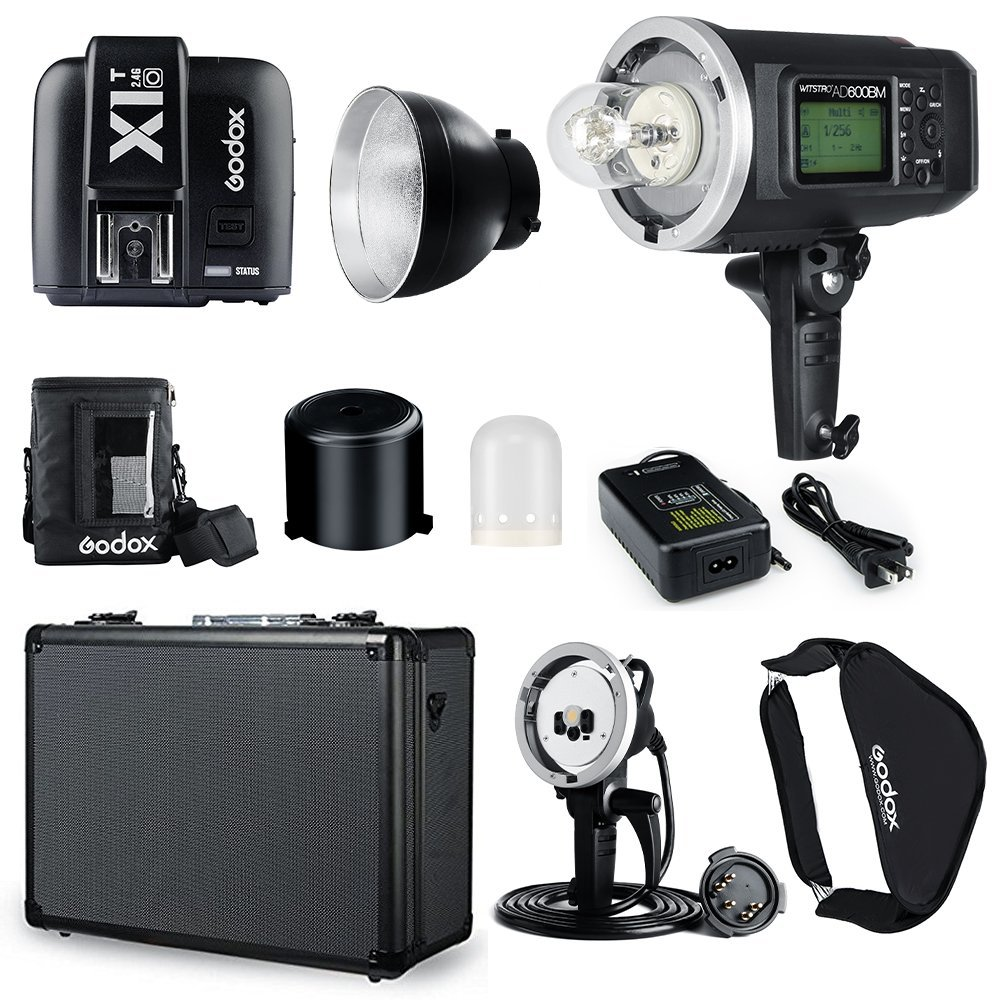 GODOX AD600BM AD sync 1 / 8000s 2.4G wireless Flash Light Speedlite,GODOX X1T-O,AD-H600B Head,PB-600 Bag,AD-Carry Bag,Softbox