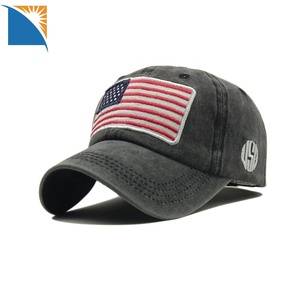 8142d2c94a3a4 US Flag Patch Military Cap Hat America Embroidery Sports Caps Women Men  applique baseball cap