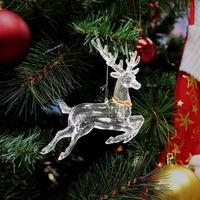 European Plastic Glitter Christmas Decorations