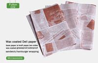 china paper mill supplies kit 7 greaseproof bleached oily food wrapping paper products with printing for hamburger,sandwich wrap