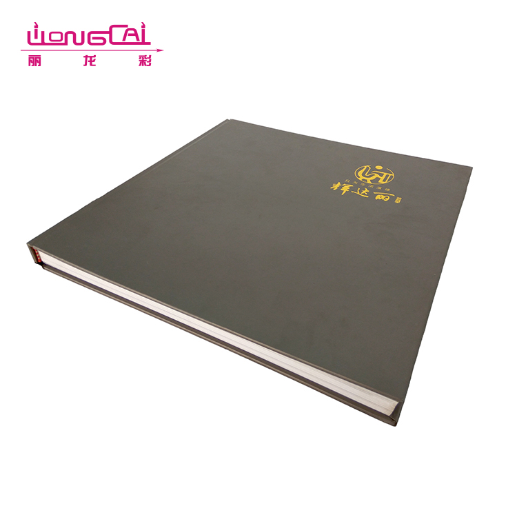Custom size high end glossy lamination hotel advertising A5 hardcover binding catalogue printing