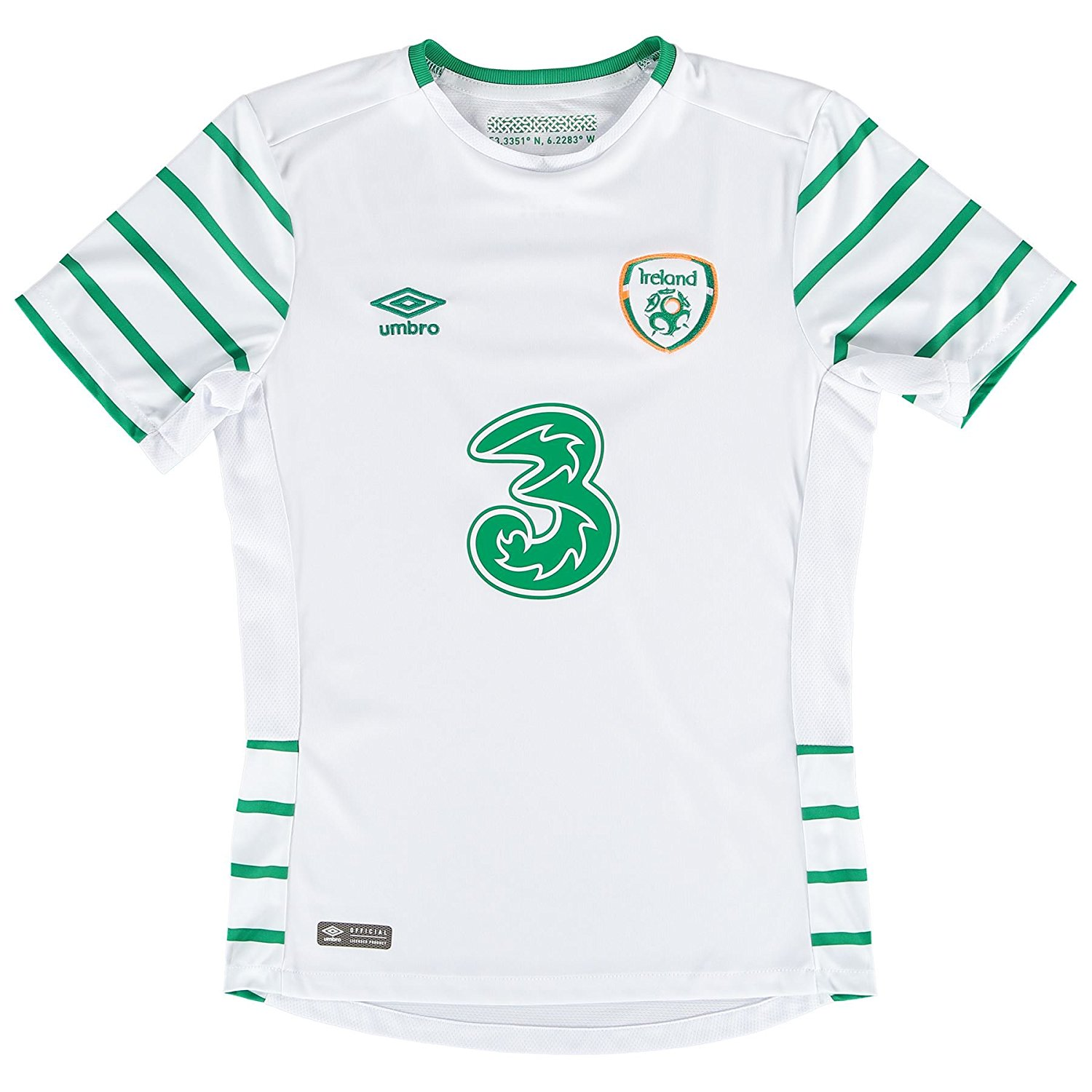 eb0d8302ae Get Quotations · 2016-2017 Ireland Away Umbro Football Shirt (Kids)