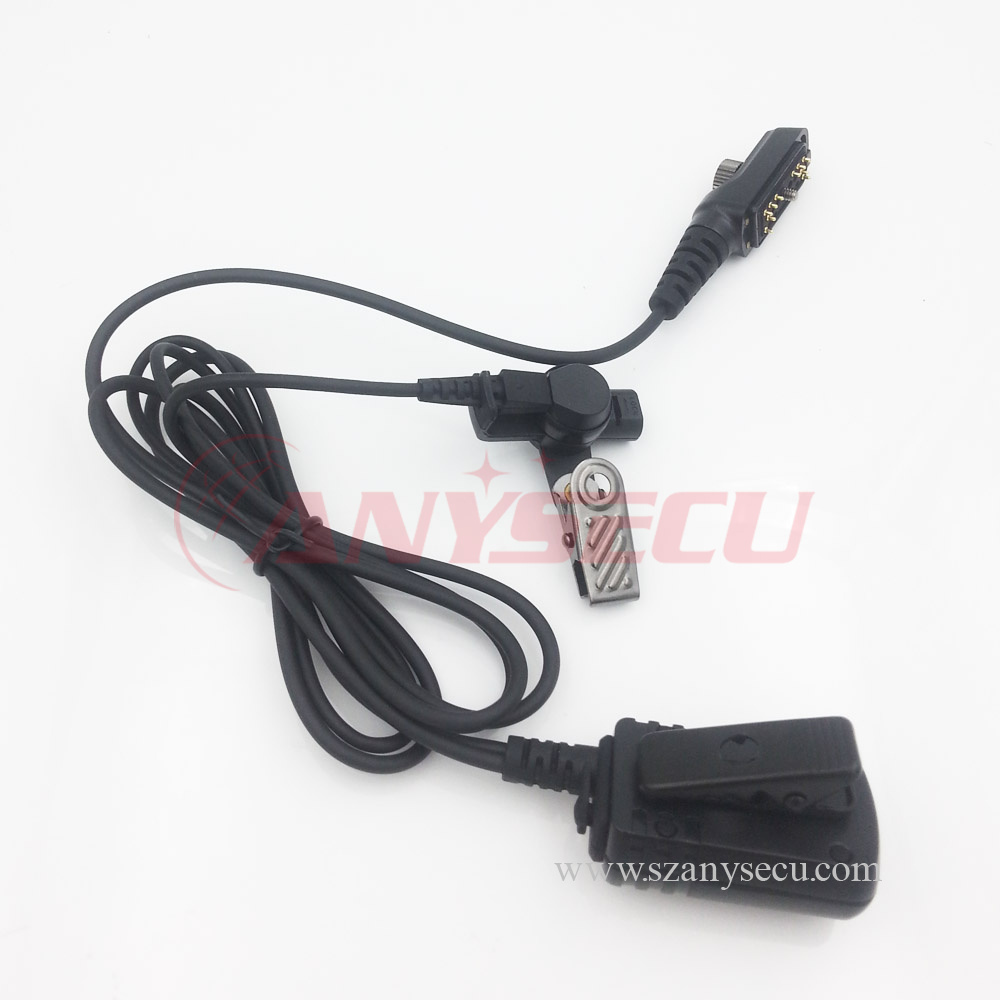 New C0161A Air Tube Earpiece Headset PPT Waterproof for Hytera PD700 PD780 PD780G HYT Radio Black