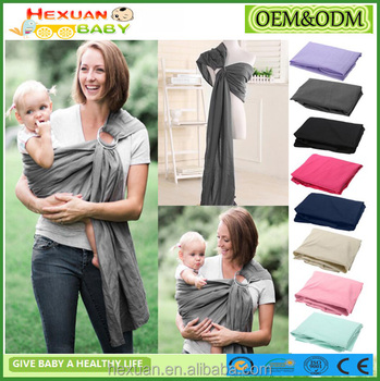 8colors Stocked Or Oem Amazon Hot Sale Newborn Sling Baby Wrap Carry