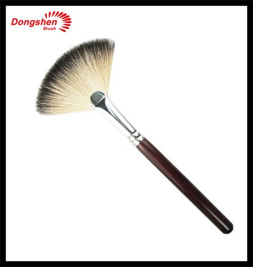 Big colorful makeup fan brush free samoles,makeup brushes,go pro makeup brush