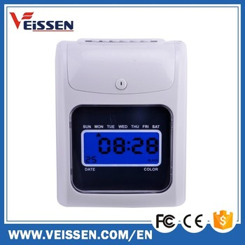 battery operated punch card time clocks with 50 free time cards - Electronic Time Card