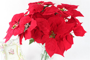 Cheap Artificial Poinsettia Flower Christmas Tree Stand ...