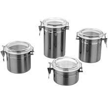 High quality stainless steel food storage airtight container/jar/box/canister with clip lid