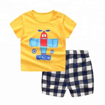 c3f8782ae Hot Sale Baby Boy Clothes Summer Baby Boy Clothing Set Cotton Suits Short Infant  Kids Clothes