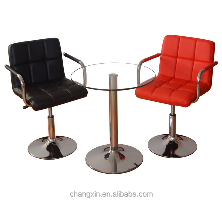 new leather bar stool chair with armrest for sale