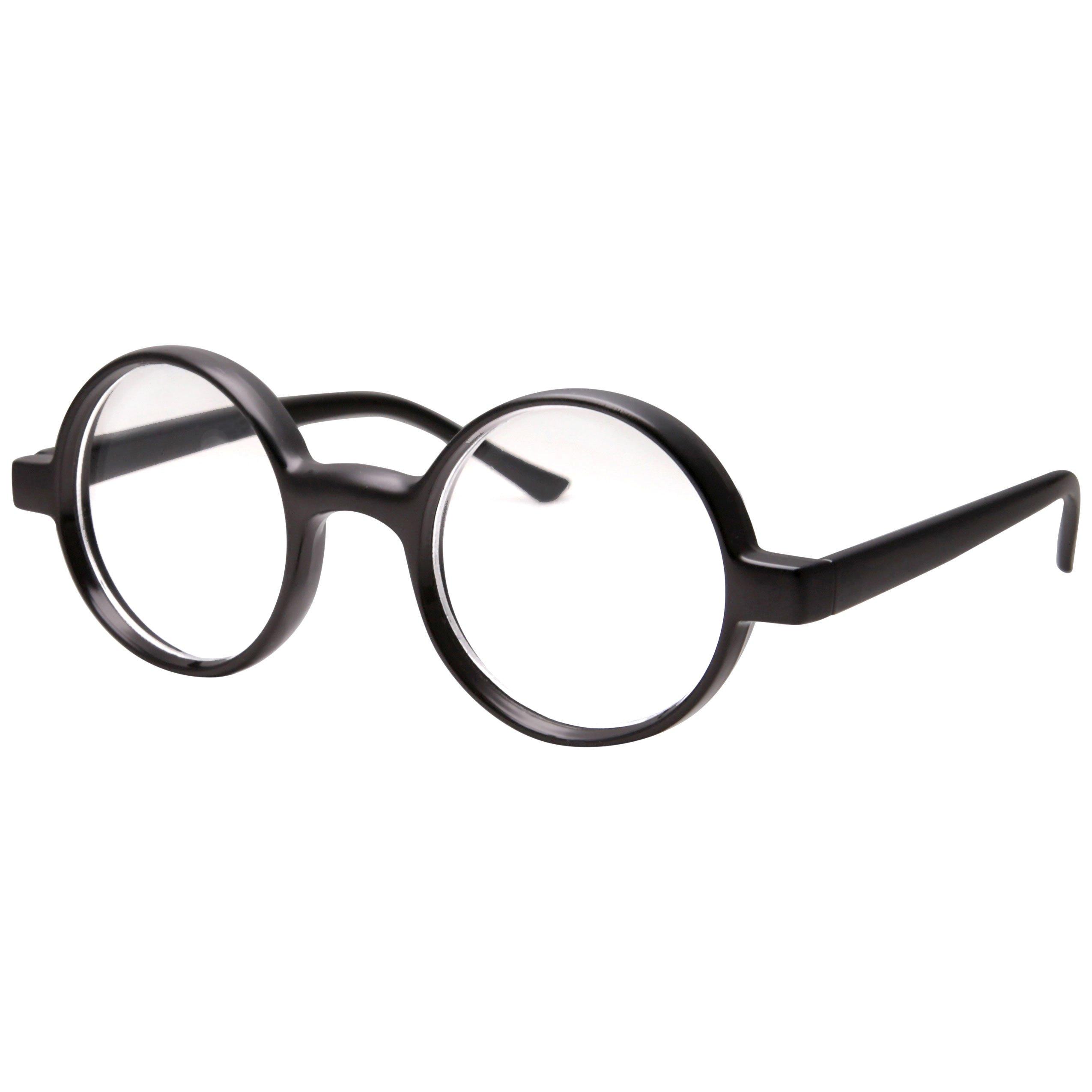 5b6cfcfc6a Buy Kids Childrens Wizard Nerd Round Black Frame Glasses