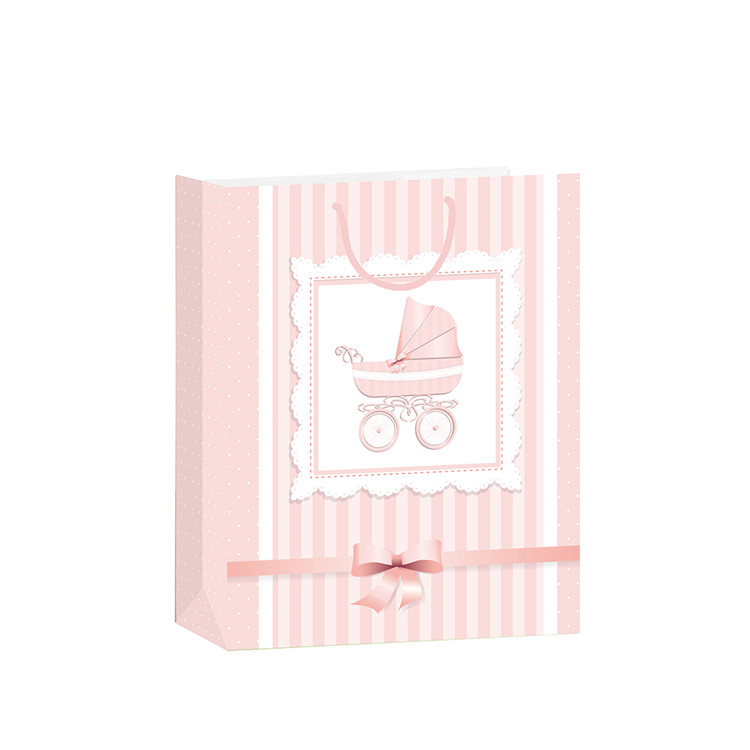 New Design Gridding Foldable Pure Large Capacity Coated Paper Packing Bags