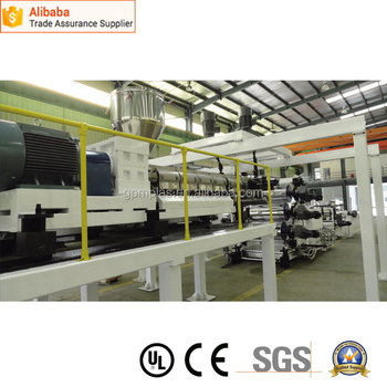 Fashionable new arrival pp bubble board extrusion line