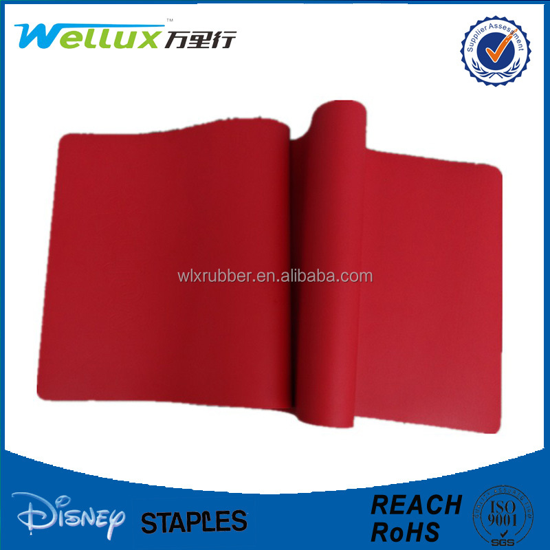 Custom anti slip rubber PU leather yoga mat with logo printing, sweat absorption