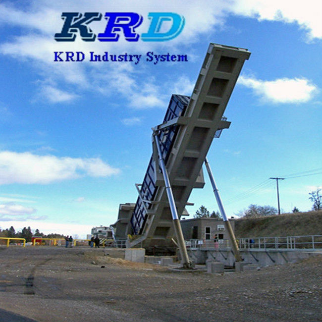 KRD Hydraulic 20ft 40ft Container unloading platform
