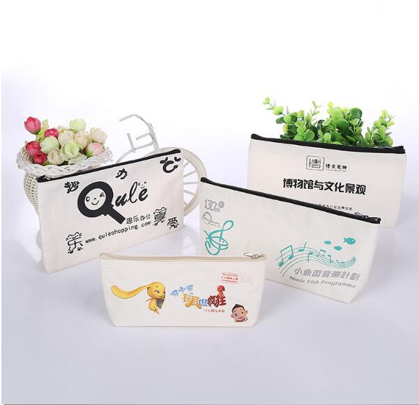 Hot sell canvas zipper pencil bag in cheap price
